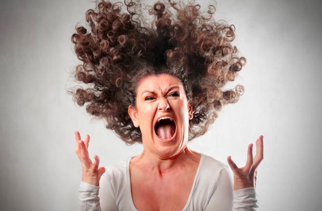 Angry woman image yoga and anger