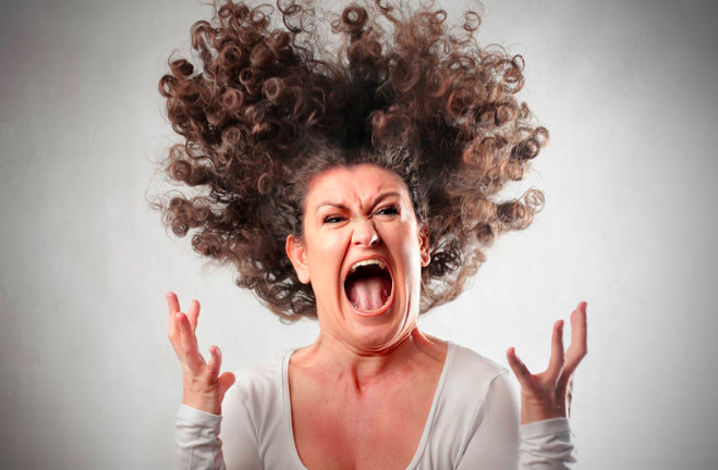 Angry woman image yoga and anger