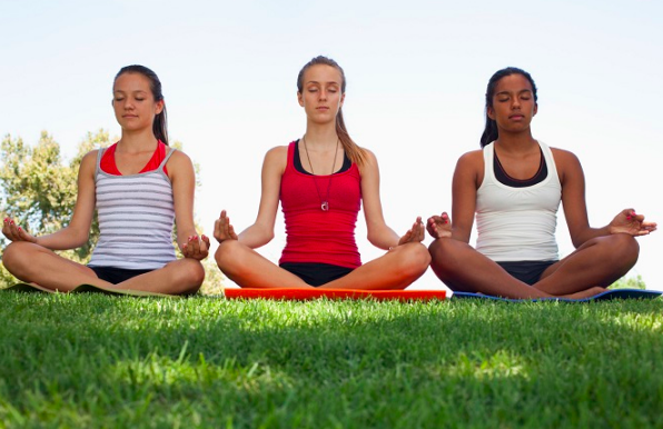 Teen yoga meditation for eating disorders