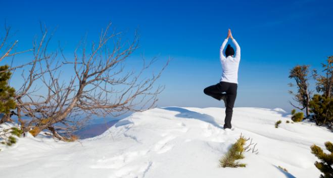 Winter Yoga in the snow