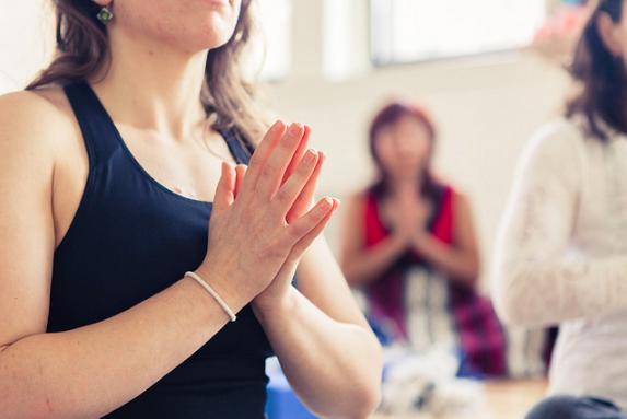 Yoga Teacher Training prayer position
