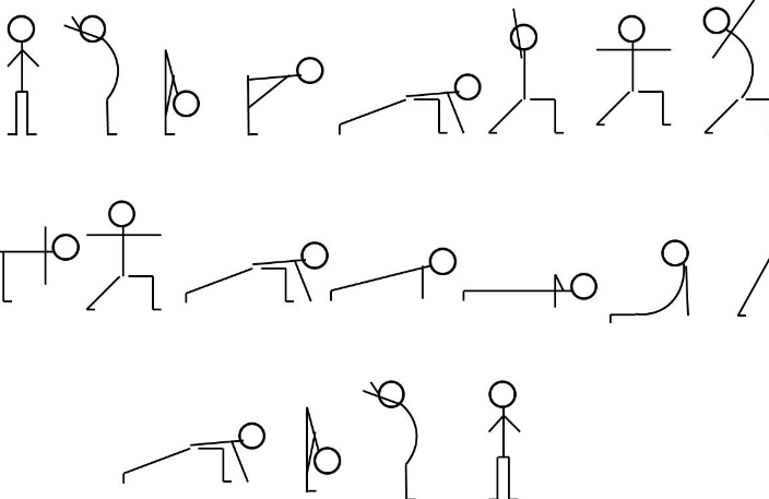 Yoga stick figures